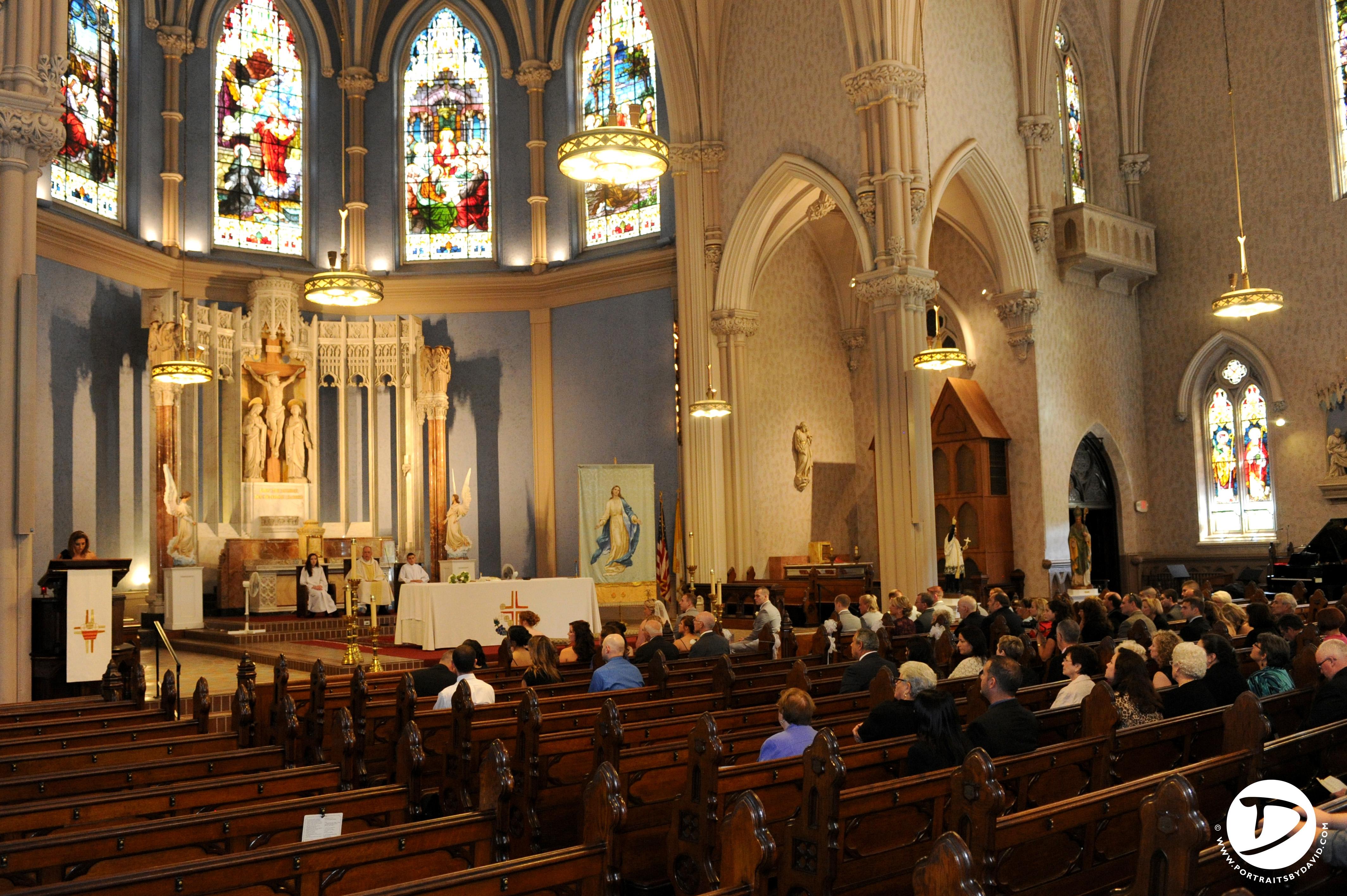 mass worship basilica sacred heart marriage